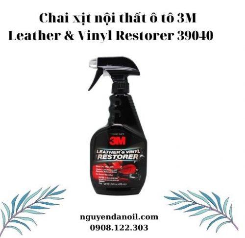 Chai xịt nội thất ô tô 3M Leather & Vinyl Restorer 39040