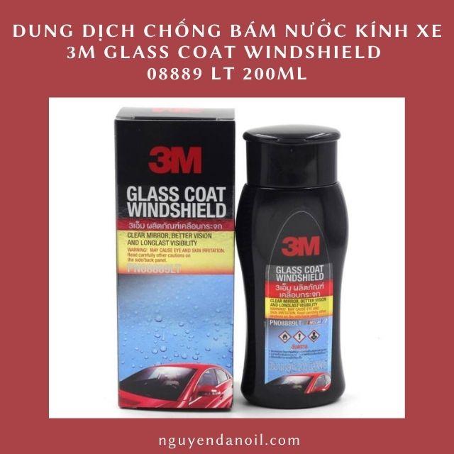 Dung dịch chống bám nước kính xe 3M Glass Coat Windshield 3M 08889 LT 200ml