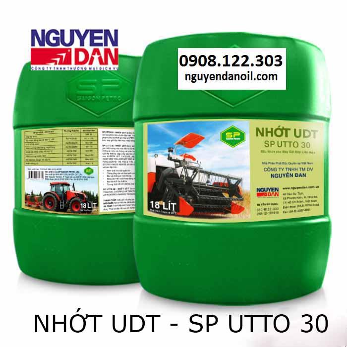 Nhớt UDT – SP UTTO 30 cho máy gặt đập liên hợp